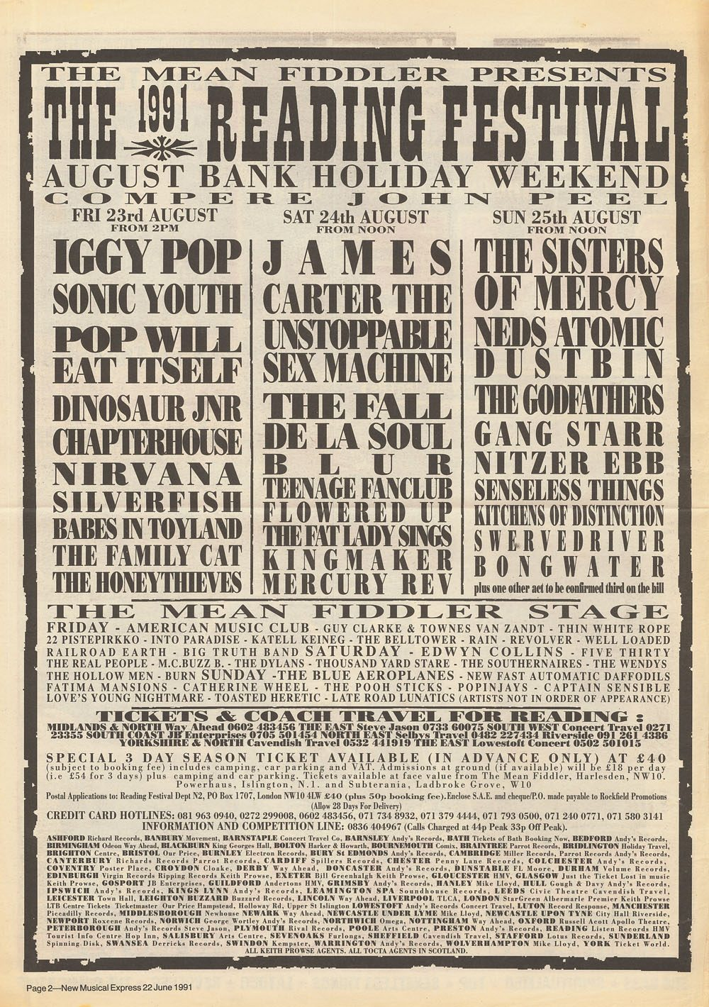 1991 Reading Festival Ad